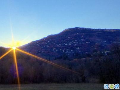 看日出日落的心情说说带图片 欣赏日出日落的句子12