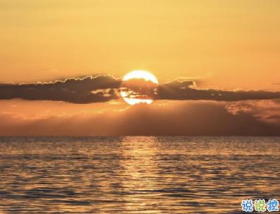 看日出日落的心情说说带图片 欣赏日出日落的句子9