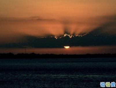 看日出日落的心情说说带图片 欣赏日出日落的句子3