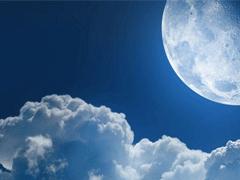 关于月亮的温柔浪漫神仙句子 描写月亮的好听句子