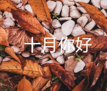 九月再见十月你好唯美句子 2021十月你好唯美励志语录2